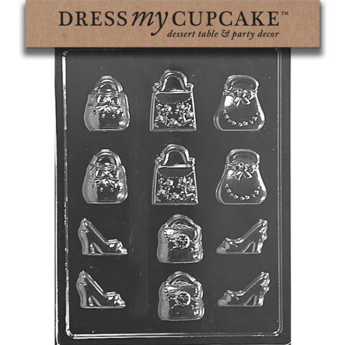 (Dress My Cupcake Chocolate Candy Mold, Small Purses and Shoes)