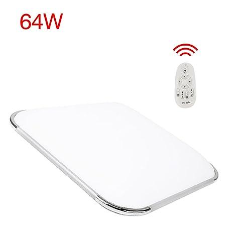 Hengda® 64W lámpara de techo regulable con mando a distancia lámpara de techo salon lámpara de techo modernas lámpara de techo habitación niños cocina ...