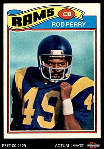 1977 Topps # 197 Rod Perry Los Angeles Rams (Football Card) Dean's Cards 6 - EX/MT Rams
