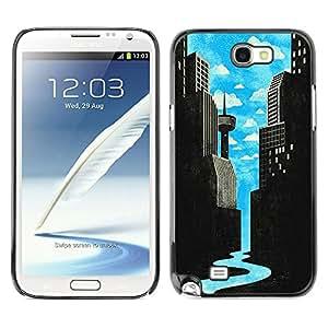 Planetar® ( Neon Abstract Dragon Gang Sign Poster ) Samsung Galaxy S Duos / S7562 Fundas Cover Cubre Hard Case Cover