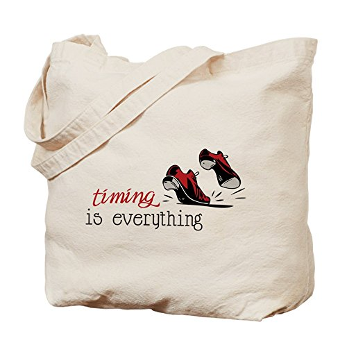 Cafepress – Timing is everything – Borsa di tela naturale, tessuto in iuta