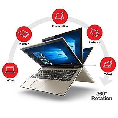 "2016 New Toshiba Satellite Fusion 15.6"" Full HD 2-in-1 Touchscreen Convertible Laptop, Intel Core i7 2.5 GHz, 8GB RAM, 256 GB SSD, Backlit Keyboard, WiFi, Webcam, HDMI, Bluetooth, Windows 10 Home"