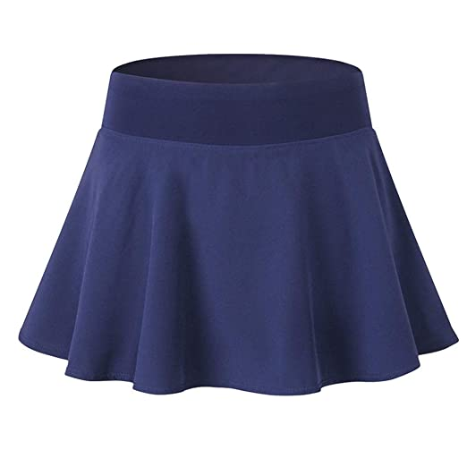 Liuf Falda Plisada para Mujer, Azul Marino, Small: Amazon.es: Hogar