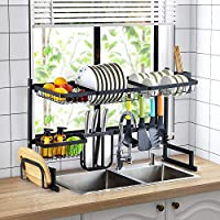 Kitchen Supplies Storage Counter Organizer Utensils Holder Stainless Steel Display- Kitchen Space Save Stainless Steel…