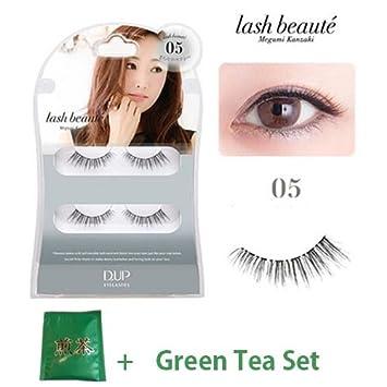 ebaadfd784c Amazon.com: D.U.P False Eyelashes Lash Beaute - Mild Sexy 05 (Green ...