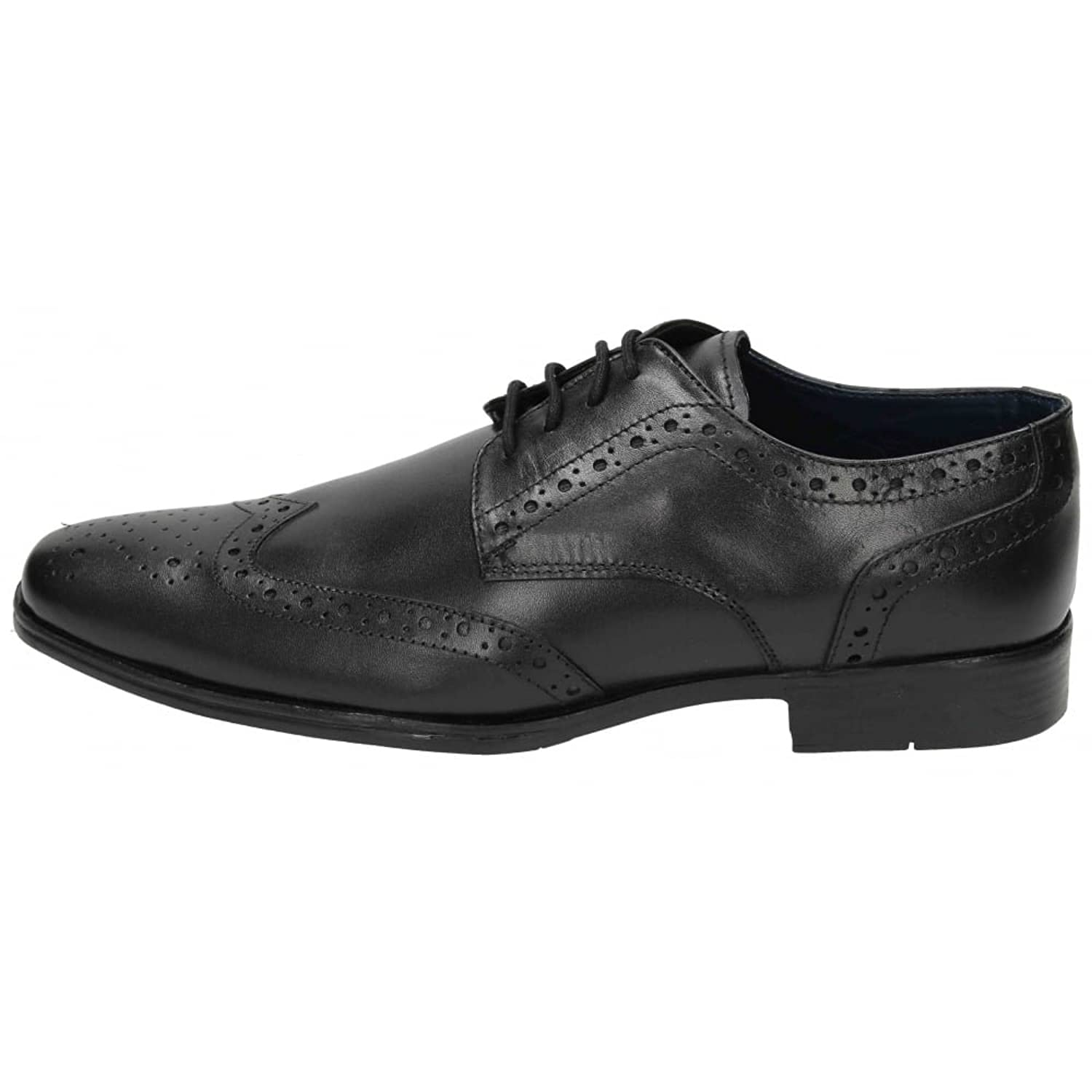 Thomas Catesby Mens Real Leather Brogue Lace Up Formal Wedding Black Shoes:  Amazon.co.uk: Shoes & Bags