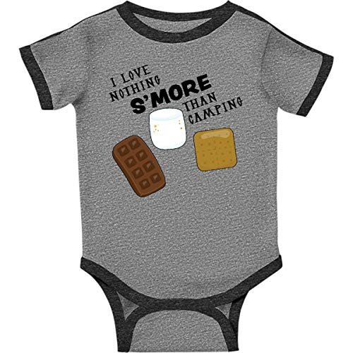 inktastic - I Love Infant Creeper 12 Months Ringer Heather and Smoke 28f1c