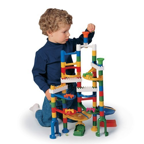 CP Toys Build and Play Marble Run with 68 Plastic Components and 12 Marbles