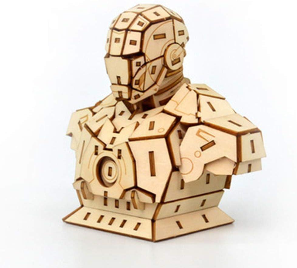 LJSHU Niños Adultos 3D Rompecabezas de Madera Robot de Corte por ...
