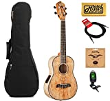 Oscar Schmidt Spalted Mango TENOR Acoustic/Electric Ukulele, OU7TE,w/Gigbag,Tuner,Strings,Cable & PC
