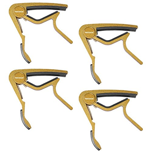 Reg Single (Neewer® 4 Pack Golden Single-handed Guitar Capo Quick Change for Electric or Acoustic 6-String Guitar)