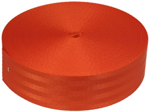2 Inch Orange Polyester Webbing Closeout, 5 - 2 Inch Web Polyester