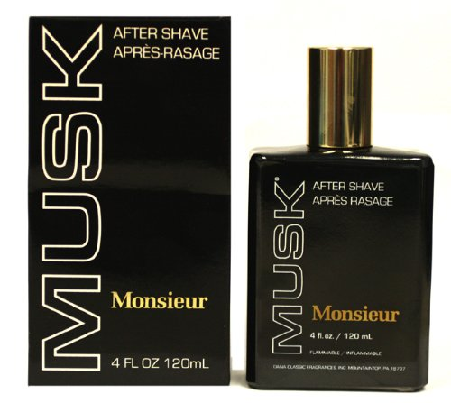 Monsieur Musk Cologne by Dana for Men. Aftershave 4.0 Oz / 120 Ml. 117866