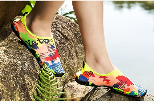 Quick 9 Beach Shoes Map Lake Garden Aqua Barefoot AVADAR Yoga Dry Driving Water Men Park Water Women Walking Swim Boating Shoes 5UK for Shoes qa10S0