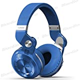 Bluedio T2 Plus Turbine 195° Rotary Foldable Super Bass Wireless Headset Bluetooth Over-ear Headphones with Mic/Micro SD Card Slot/FM Radio DJ For Iphone Samsung HTC LG Tablet Gift Package (Blue)