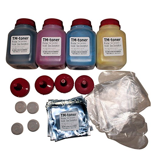 TM-toner © 4 color High Capacity Toner Refill + 4 Chip and plugs For Dell C2660 C2660DNF C2665DNF cartridge 593-BBBR, YR3W3, 2K1VC