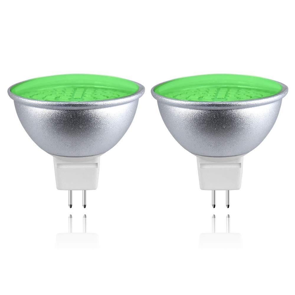 MR11 GU4 Blue LED Spotlight Bulbs 2W 12V-24V 35MM MR11 GU4.0 Blue Coloured Spot Light Bulb for Wall Washer Lamps, Landscape Lighting, Decorative Mood Lighting (2-Pack, Blue) Lusta LED Co. Ltd