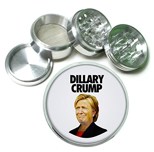 Dillary Crump Hysterical Presidential Campaign Mashup 4 Pc. Aluminum Tobacco Spice Herb Grinder