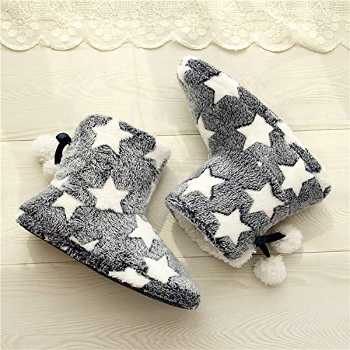 Inverno Con Aonegold Peluche Pom Antiscivolo Pantofola Donna Poms Grigio Pantofole Caldo 4q40UEw
