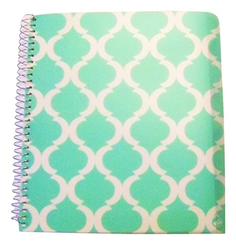 (Carolina Pad Studio C College Ruled Poly Cover 5-Subject Spiral Notebook ~ Pattern Play (Green and White Design; 150 Sheets, 300 Pages))