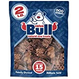 ValueBull Beef Lung Wafers, Premium 2 Pound, Natural Dog Treats - Angus Beef, USDA/FDA-Approved