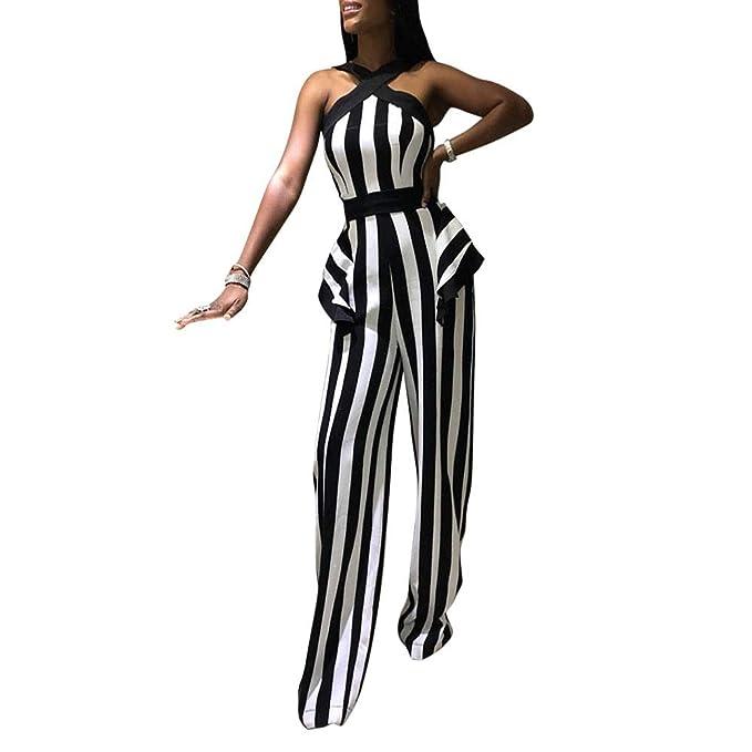 Amazon.com: Traje de mujer sexy de 1 pieza, diseño de rayas ...