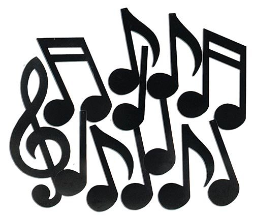 Musical Note Silhouettes (black)    (12/Pkg) -