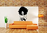 Wall Sticker Mural Decal Woman Africa Tribe Beauty Afro Girl Ebony Poster Lady AS1072