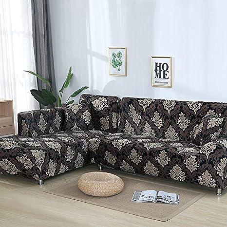 Funda de sofá nórdica, Conjunto de algodón, Funda de sofá, Funda de sofá elástica para Sala de Estar, sofá Chaise Longue en Forma de L, sofá A17 de 4 plazas