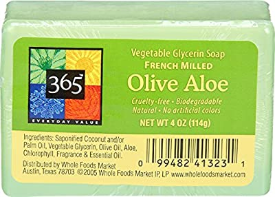 365 Everyday Value, Olive Aloe Vegetable Glycerin Soap, 4 oz