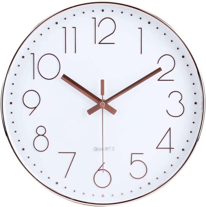 Modern Style Battery Operated LED Color Light Wall Clock Easy To Read
