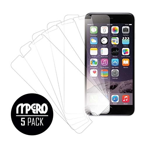 iPhone 6 Plus/iPhone 6S Plus Screen Protector Cover, Ultra-Clear 5-Pack  Case - Mpero