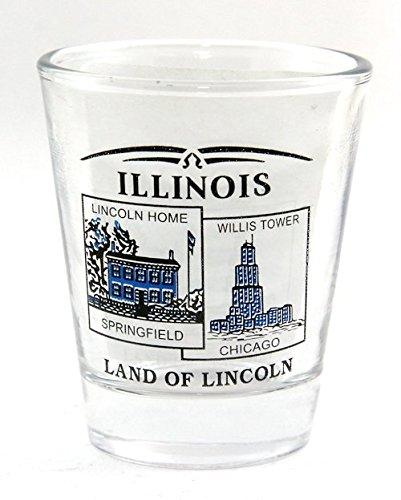 Illinois State Scenery Blue New Shot Glass