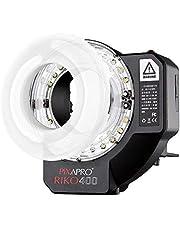 Pixapro® RIKO400 400 Ws Wistro AR400 Universele ring-flitslicht, superhelder, continu, ledlicht, 2 jaar garantie