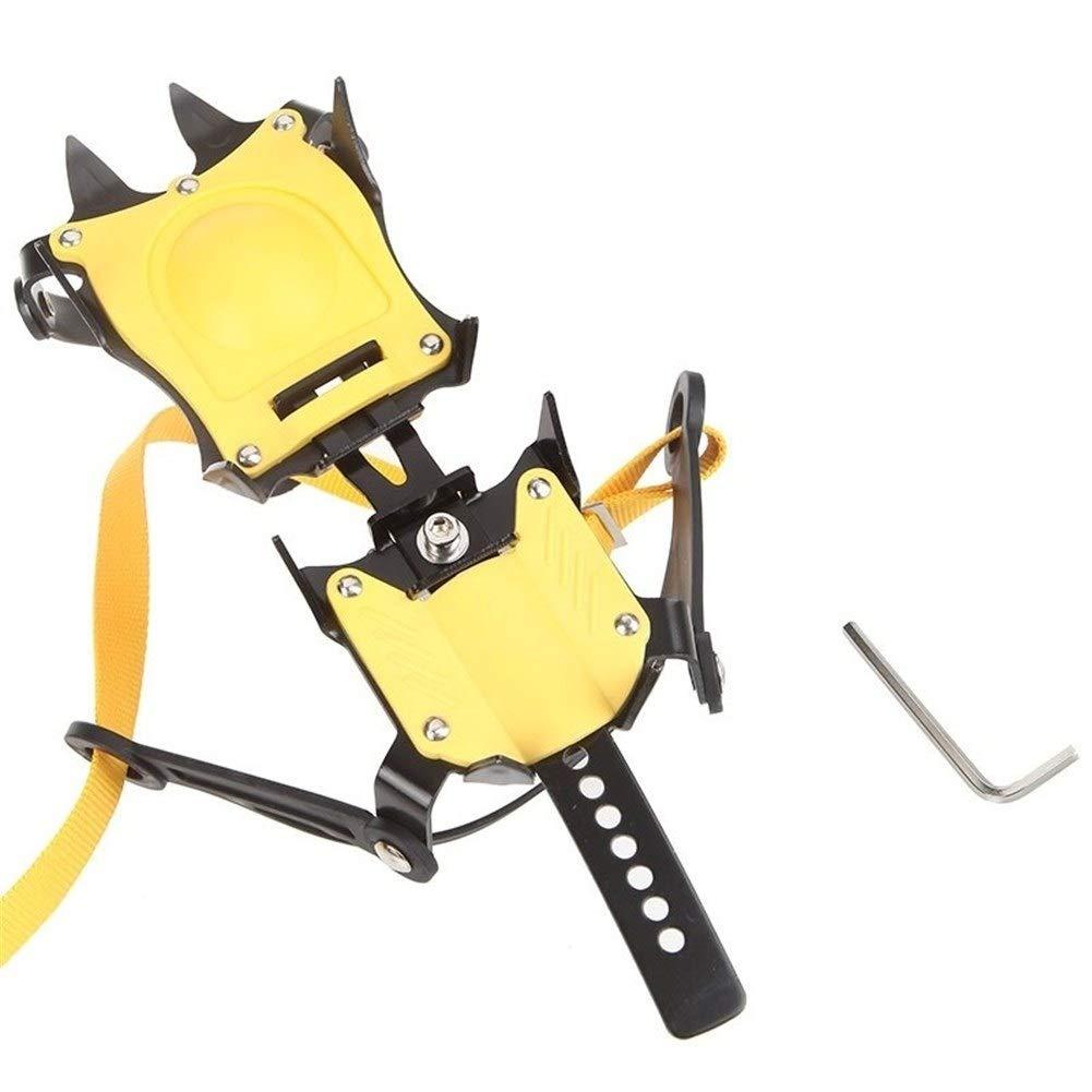 Strap Type Crampons Ski Belt High Altitude Hiking Slip-resistant 10 Crampon by Jishipin