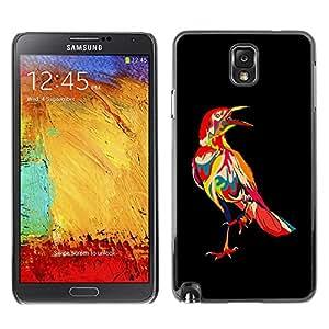 YiPhone /// Prima de resorte delgada de la cubierta del caso de Shell Armor - Psychedelic Pattern Bird Raven - Samsung Galaxy Note 3 N9000 N9002 N9005