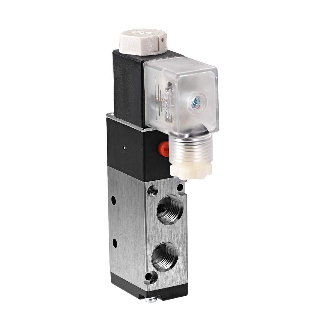 sourcing map 4V210-08 seule /électrovanne Air AC 220V 5 voie 2P 1//4 PT LED