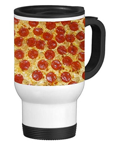 Elite Printing Pepperoni Pizza 14 Ounce Stainless Travel Mug Thermos