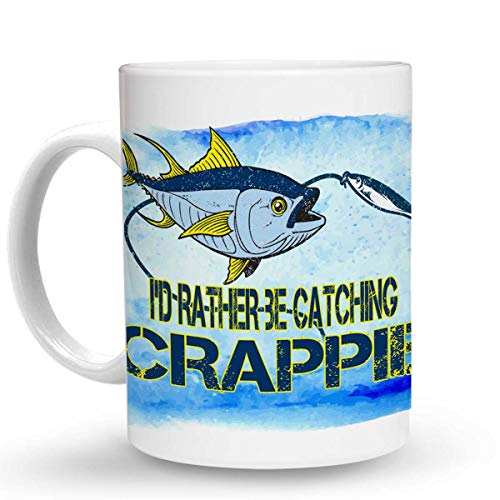 - Makoroni - I'D RATHER BE CATCHING CRAPPIE Fish Fishing - 11 Oz. Unique COFFEE MUG, Coffee Cup