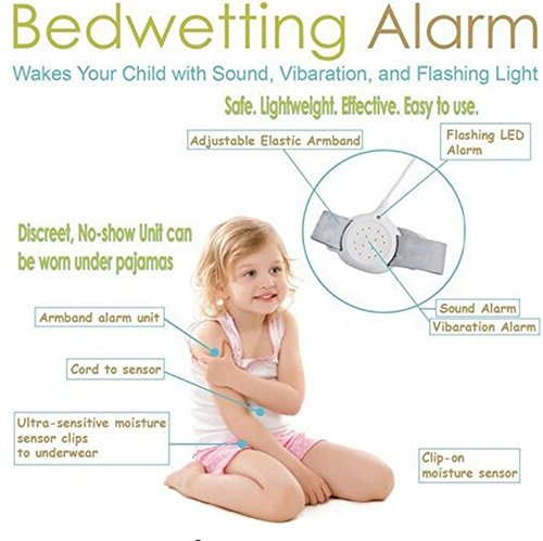 Bed Alarm For Bedwetting Training Children and Kids to Stop Night Time Moisture Easy Solutions Control Nocturnal Enuresis by WINHY