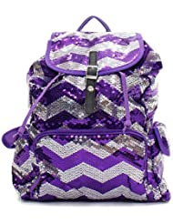 Chevron Sequin Backpack Pp