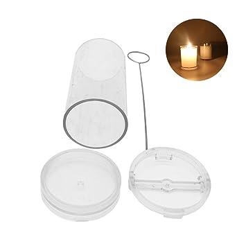 Molde de cera para velas hecho a mano en forma de cilindro, molde de velas de plástico profesional para hacer velas: Amazon.es: Hogar
