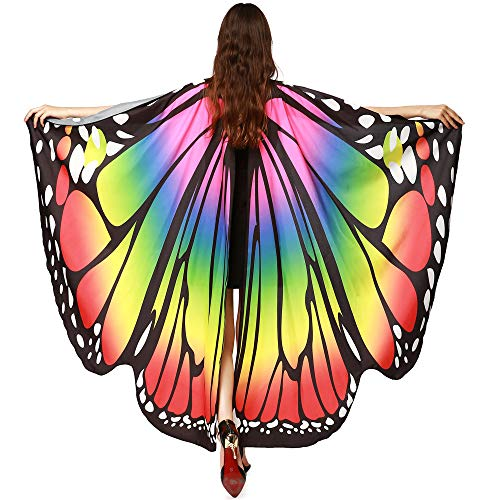 POQOQ Belly Dance Wings Halloween Christmas Party Colorful