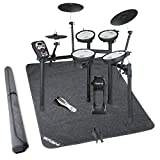 Roland TD-11KV-S V-Compact Series Electronic Drum Kit w/Stand and Non-Slip Drum Floor Mat