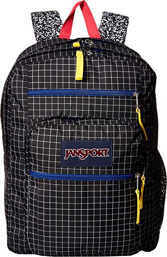 JanSport Unisex Big Student Black Grid One Size