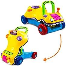 [Patrocinado] Juguete 2 en 1 para caminar de bebé – Walk 'n Ride Características bebé caminante y actividad niños paseo a lo largo de todo – niños multifuncional educativo caminante para niños, niñas