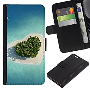 OMEGA Case / Apple Iphone 6 PLUS 5.5 / THE LORD IS LIGHT - PSALM 27:1 / Cuero PU Delgado caso Billetera cubierta Shell Armor Funda Case Cover Wallet Credit Card