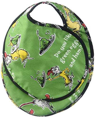 (Dr. Seuss Reversible Baby Bib Green Eggs & Ham - Grn/Blk )