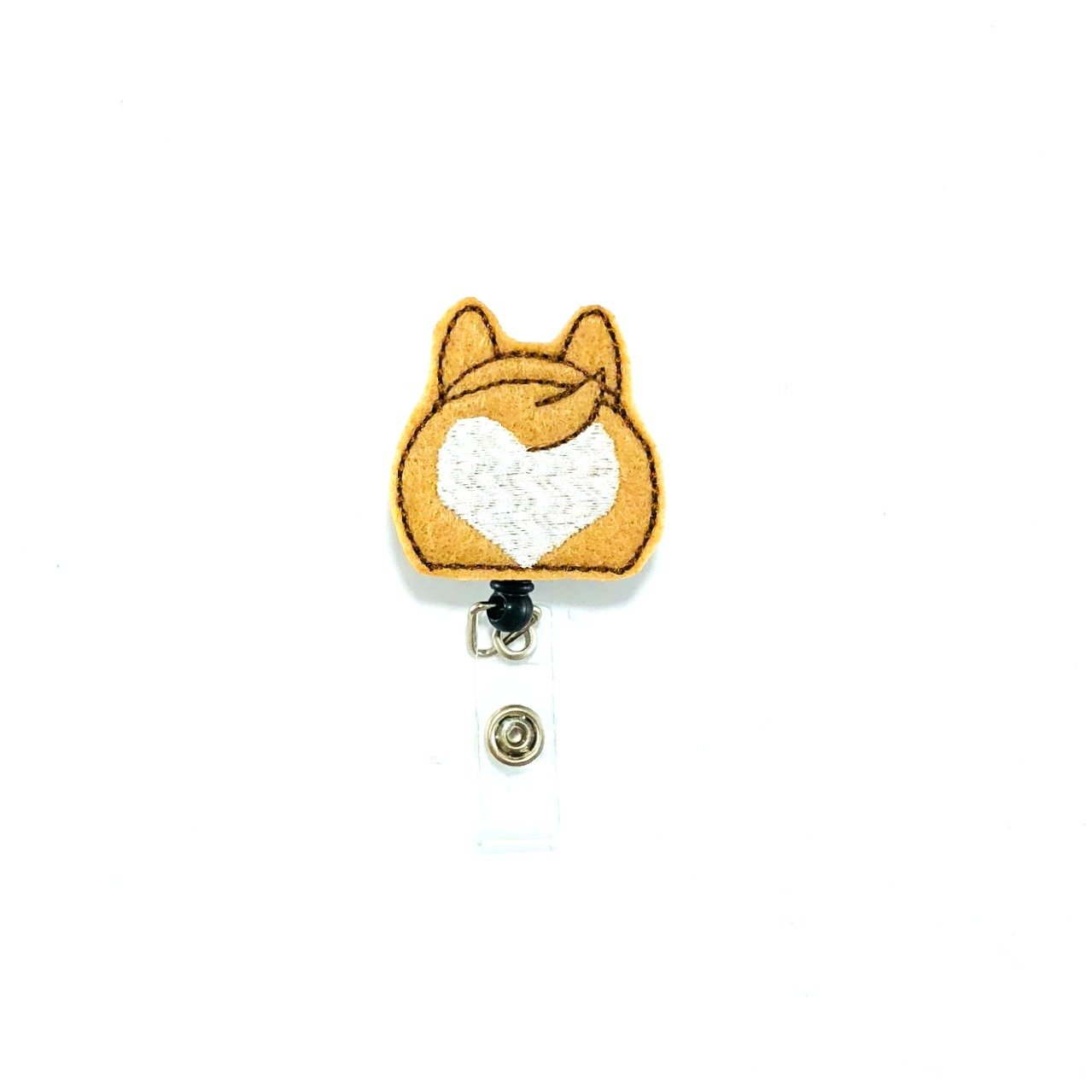 Corgi Butt Badge Reel