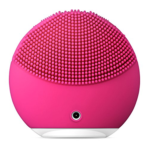 FOREO LUNA mini 2 Facial Cleansing Brush, Gentle Exfoliation and Sonic Cleansing for All Skin Types, Fuchsia by FOREO (Image #2)